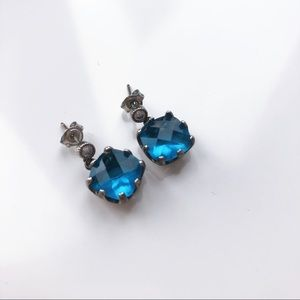 Blue stone earing
